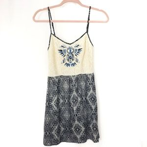 Flying Tomato Tribal Lace Mini Dress